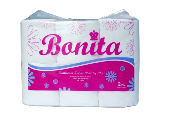 Bonita Tissue Roll 2-Ply 300 Sheets x 12's