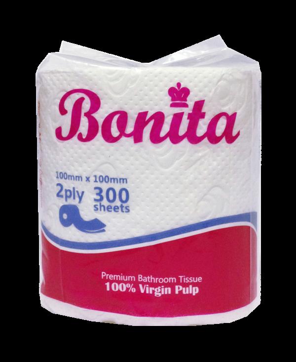 Bonita Tissue Roll 2-Ply 300 Sheets Singles